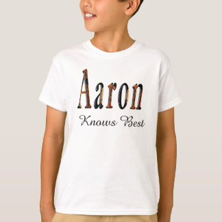 Aaron Boys Name Logo, T-Shirt