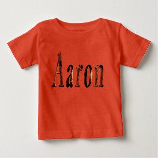 Aaron, Name, Logo, Baby Boys Orange T-shirt