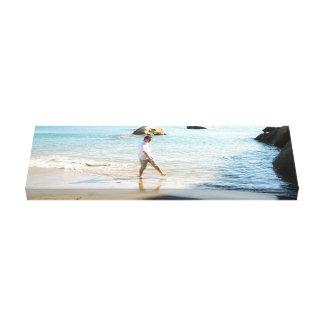 Aaron on the Beach Canvas Prints