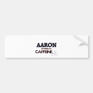 Aaron powered by caffeine car bumper sticker