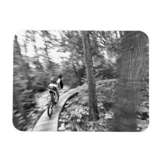 Aaron Rodgers mountain biking on the Stairway to Rectangular Photo Magnet