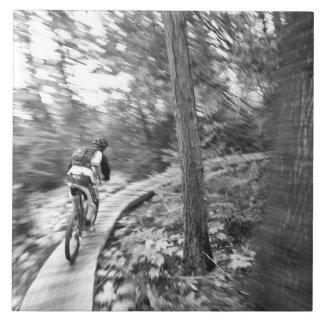 Aaron Rodgers mountain biking on the Stairway to Tile