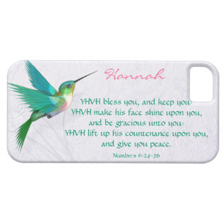 Aaronic Blessing Hummingbird English iPhone 5 Case