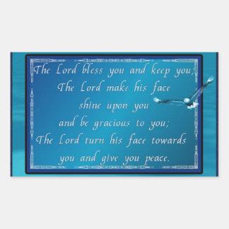Aaronic blessing! rectangular sticker