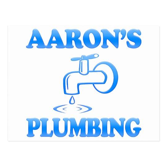 Aaron's Plumbing Postcard