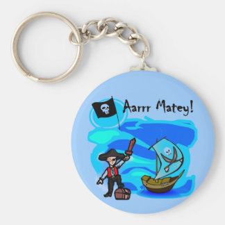 Aarrr Matey Tshirts and Gifts Basic Round Button Key Ring
