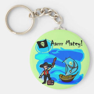 Aarrr Matey Tshirts and Gifts Key Chain