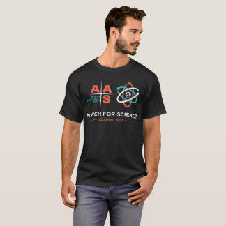 AAS + March for Science; black T-Shirt
