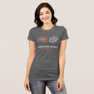 AAS + March for Science; Dark Grey T-Shirt
