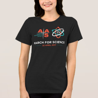 AAS + March for Science; Dark Heather Grey T-Shirt