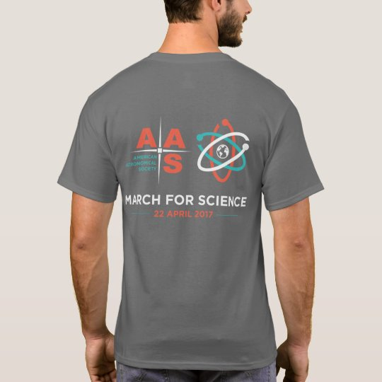 AAS + March for Science; Reverse, Dark Grey