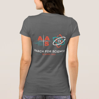 AAS + March for Science; Reverse, Dark Grey T-Shirt