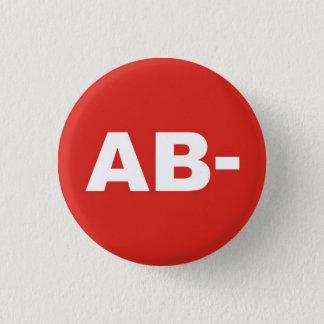 AB- Blood Type / Group Rh (Rhesus) Negative Badge