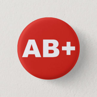 AB+ Blood Type / Group Rh (Rhesus) Positive Badge