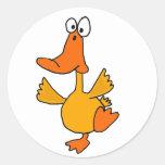 AB- Dancing Duck Cartoon Stickers