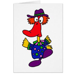AB- Funny Duck Clown Design Greeting Card