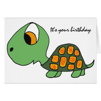 AB- Funny Turtle Birthday Card