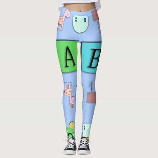 AB leggings/ Adult Baby Super Cute/ Baby4Life Leggings