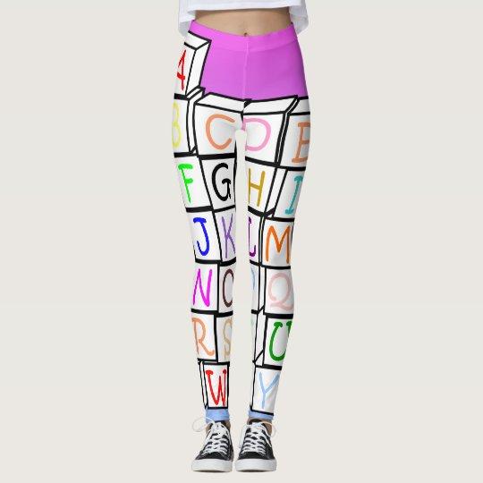 AB leggings/ Alphabet Leggings/ AB wear 2017 Leggings