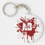 AB Negative Blood Type Donation Vampire Zombie Basic Round Button Key Ring