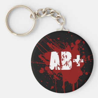 AB positive Blood Type Donation Vampire Zombie Basic Round Button Key Ring