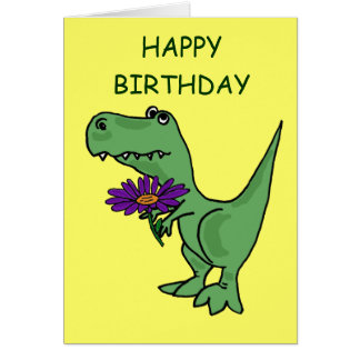 AB- T-Rex Birthday Card