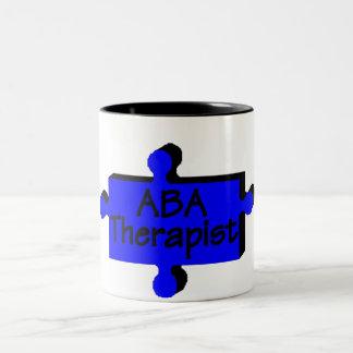 ABA Therapist (Blue P) Two-Tone Mug