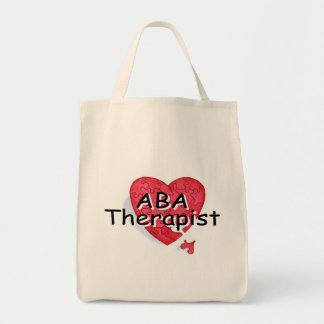 ABA Therapist (Hrt Puzzle) Grocery Tote Bag