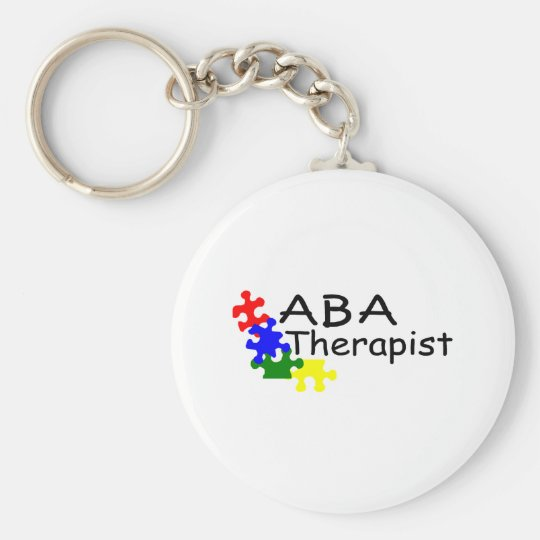 ABA Therapist (PP) Basic Round Button Key Ring