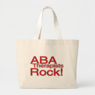 ABA Therapist Rock Large Tote Bag