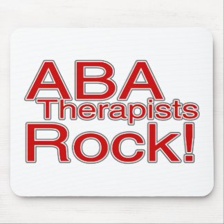 ABA Therapist Rock Mouse Pad