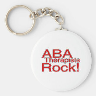 ABA Therapists Rock (Red) Key Ring