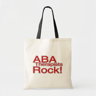ABA Therapists Rock (Red) Tote Bag