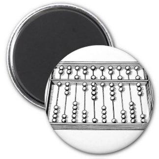 Abacus 6 Cm Round Magnet