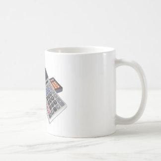 Abacus and calculator coffee mug