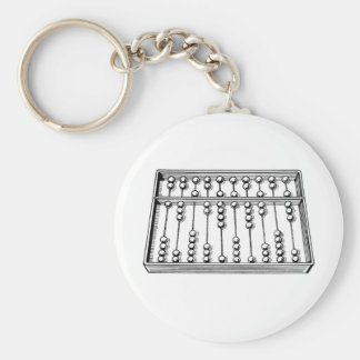 Abacus Basic Round Button Key Ring