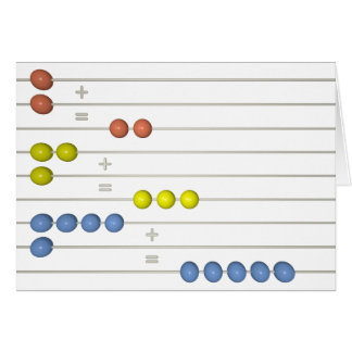 abacus greeting card