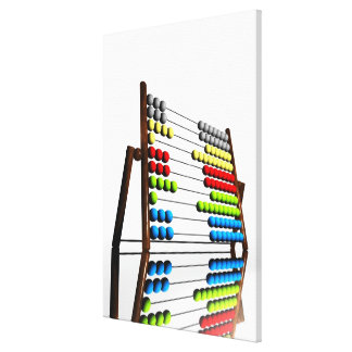 Abacus, computer artwork. canvas print