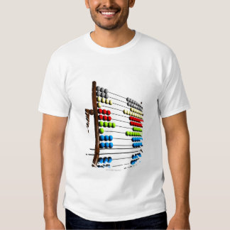 Abacus, computer artwork. shirt