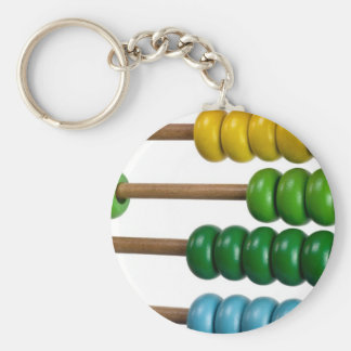 Abacus for kids basic round button key ring