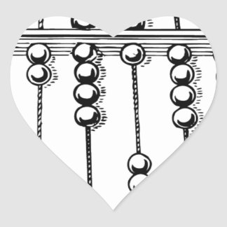 Abacus Heart Sticker