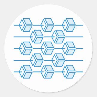 Abacus Round Sticker