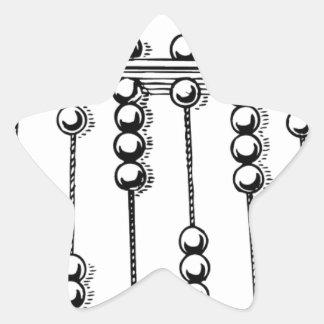 Abacus Star Sticker