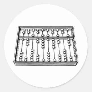 Abacus Classic Round Sticker