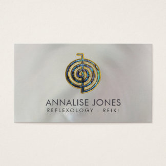 Abalone and Gold Choku Rei  on mother of pearl Business Card