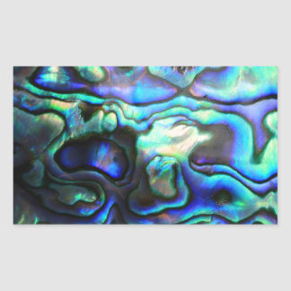 Abalone paua shell rectangular sticker