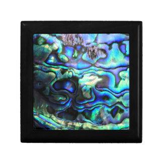 Abalone paua shell small square gift box