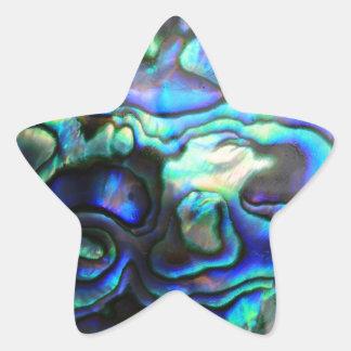 Abalone paua shell star sticker