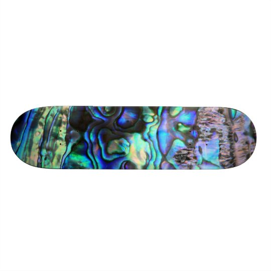 Abalone shell beautiful paua detail skate board deck