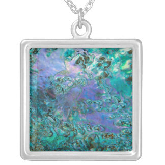Abalone Shell II Silver Plated Necklace